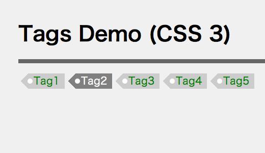 CSS 3 tag demo
